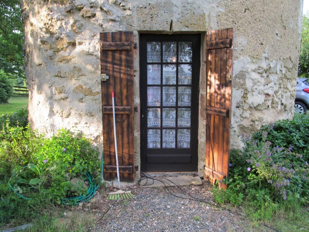 Front door - note the coax going in under the door