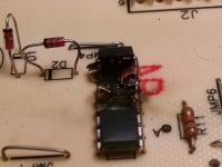Melted IC in stepper motor controller