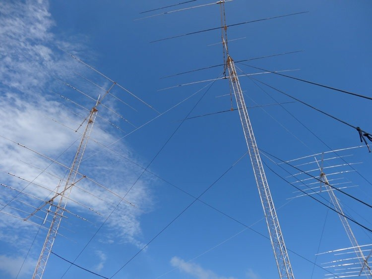 Antenna farm used by P40CX 1